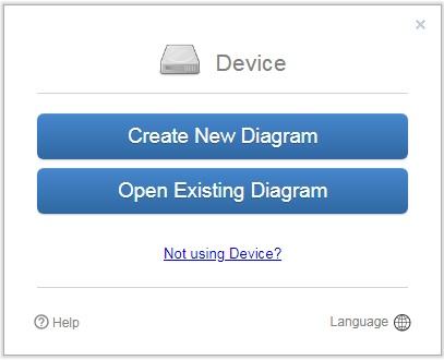 draw.ioで新規か既存ファイルかを選択