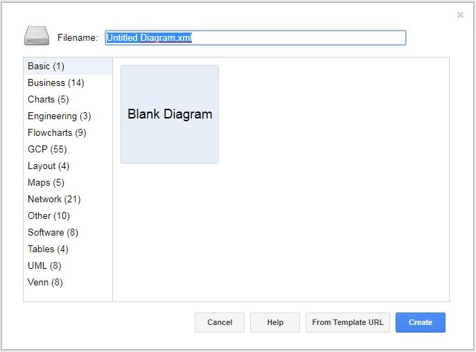 draw.ioでユースケース図のファイル名を指定