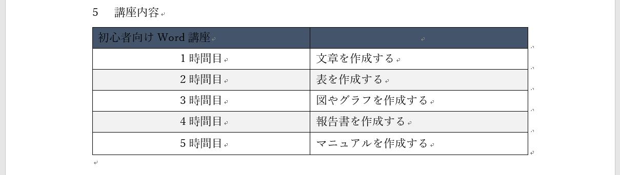 文字の色を変える手順1
