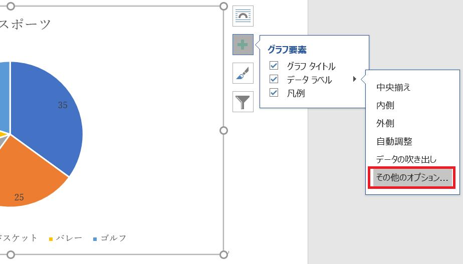 データラベルを編集