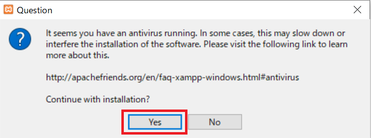 XAMPPのインストール手順1