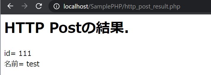 HTTP POSTの受信イメージ
