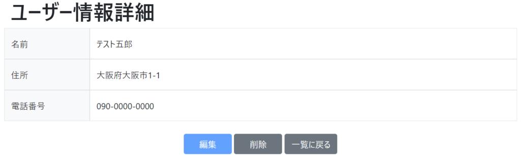ユーザー詳細